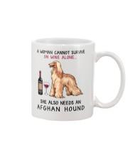 Wine and Afghan Hound 2 Mug thumbnail
