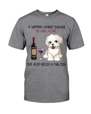 Wine and Maltese 2 Classic T-Shirt tile