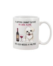 Wine and Maltese 2 Mug thumbnail