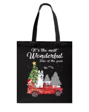 Wonderful Christmas with Truck - Husky Tote Bag thumbnail
