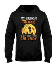 My Broom Broke So Now I Become A Crazy Cat Lady Hooded Sweatshirt thumbnail