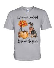 The Most Wonderful Time - German Pinscher V-Neck T-Shirt thumbnail