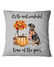 The Most Wonderful Time - German Pinscher Square Pillowcase thumbnail