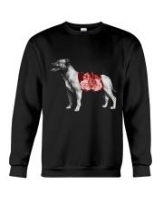 Flower and Staffordshire Bull Terrier Crewneck Sweatshirt thumbnail