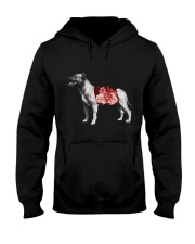 Flower and Staffordshire Bull Terrier Hooded Sweatshirt thumbnail