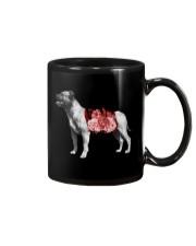 Flower and Staffordshire Bull Terrier Mug thumbnail