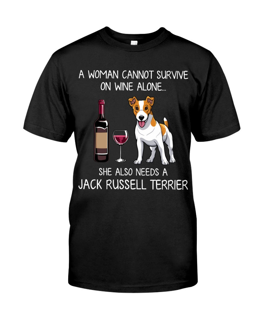 Wine and Jack Russell Classic T-Shirt