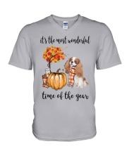 The Most Wonderful Time - Blenheim Cavalier V-Neck T-Shirt thumbnail