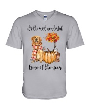 The Most Wonderful Time - Golden Retriever V-Neck T-Shirt thumbnail