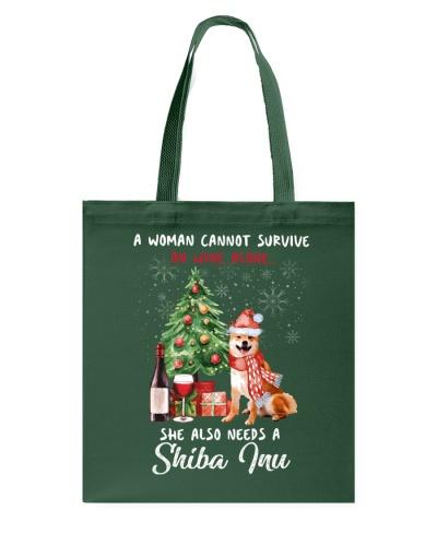 Christmas Wine and Shiba Inu