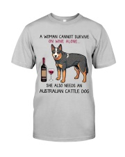 Wine and Australian Cattle Dog 2 Classic T-Shirt front