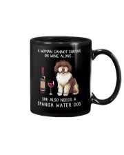 Wine and Spanish Water Dog Mug tile