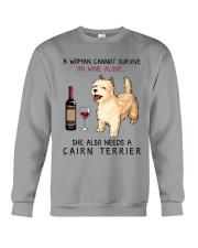 Wine and Cairn Terrier 2 Crewneck Sweatshirt thumbnail