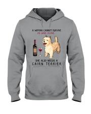 Wine and Cairn Terrier 2 Hooded Sweatshirt thumbnail