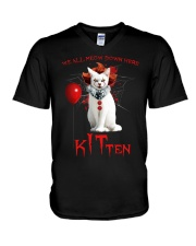 We All Meow Down Here V-Neck T-Shirt thumbnail