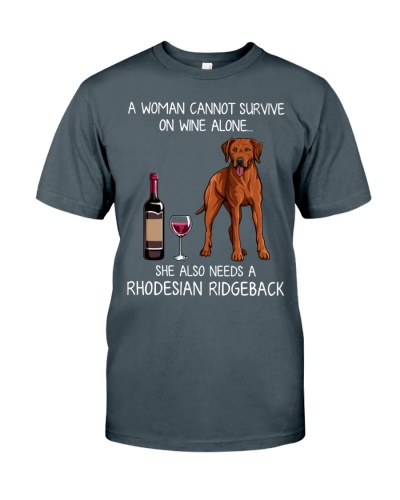 Wine and Rhodesian Ridgeback