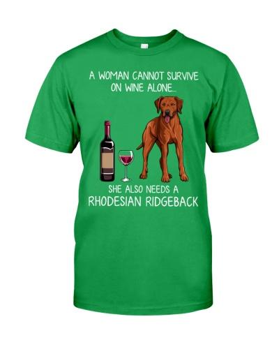 Wine and Rhodesian Ridgeback