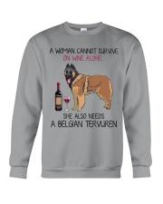 Wine and Belgian Tervuren 2 Crewneck Sweatshirt thumbnail
