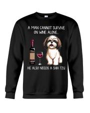 Wine and Shih Tzu - Man version  Crewneck Sweatshirt thumbnail