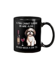Wine and Shih Tzu - Man version  Mug thumbnail