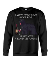 Wine and Bouvier Des Flandres Crewneck Sweatshirt thumbnail
