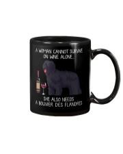 Wine and Bouvier Des Flandres Mug thumbnail
