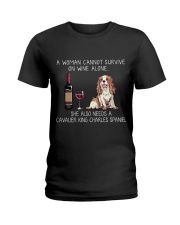Wine and Cavalier Ladies T-Shirt thumbnail