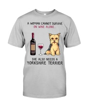 Wine and Yorkie 2 Classic T-Shirt front