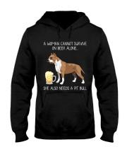 Beer and Pit Bull Hooded Sweatshirt thumbnail