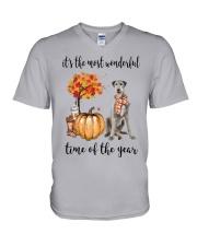 The Most Wonderful Time - Irish Wolfhound V-Neck T-Shirt thumbnail