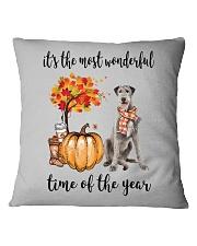 The Most Wonderful Time - Irish Wolfhound Square Pillowcase thumbnail