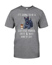 Scottish Terrier Coffee and Naps Classic T-Shirt front
