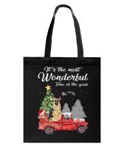 Wonderful Christmas with Truck - German Shepherd Tote Bag thumbnail