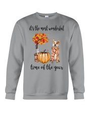 The Most Wonderful Time Red Australian Cattle Dog Crewneck Sweatshirt thumbnail