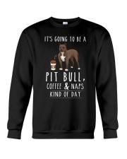 Pit Bull Coffee and Naps Crewneck Sweatshirt thumbnail
