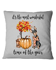 The Most Wonderful Time - Miniature Pinscher Square Pillowcase tile