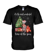 The Most Wonderful Xmas - Sphynx V-Neck T-Shirt thumbnail