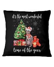 The Most Wonderful Xmas - Sphynx Square Pillowcase thumbnail