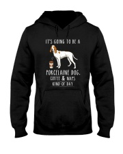Porcelaine Coffee and Naps Hooded Sweatshirt tile