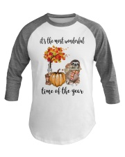 The Most Wonderful Time - Sloth  Baseball Tee tile