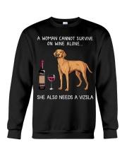 Wine and Vizsla Crewneck Sweatshirt thumbnail