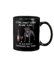 Wine and Staffordshire Bull Terrier - Man version Mug thumbnail