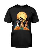 Howloween Staffordshire Bull Terrier Classic T-Shirt front