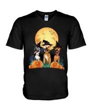 Howloween Staffordshire Bull Terrier V-Neck T-Shirt thumbnail