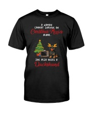 Christmas Movies and Dachshund Classic T-Shirt front