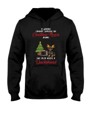 Christmas Movies and Dachshund Hooded Sweatshirt thumbnail