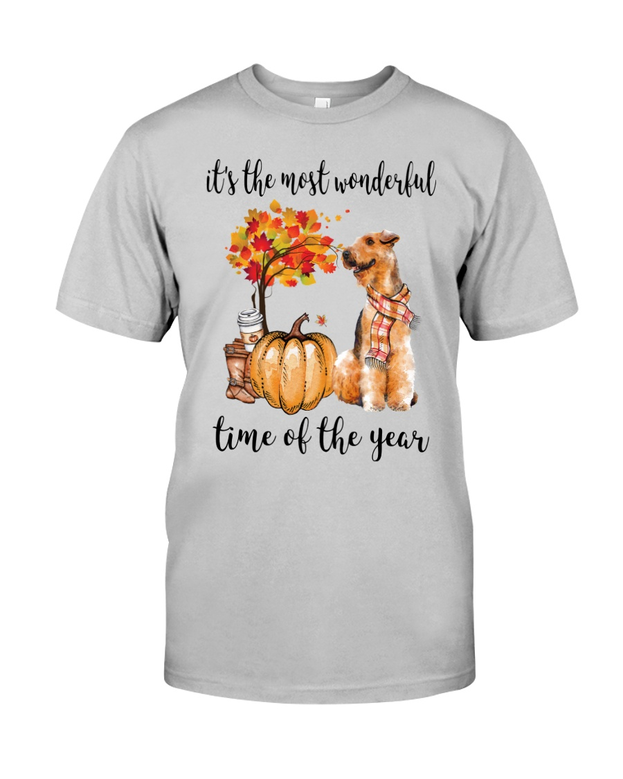The Most Wonderful Time - Airedale Terrier Classic T-Shirt