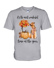 The Most Wonderful Time - Airedale Terrier V-Neck T-Shirt thumbnail