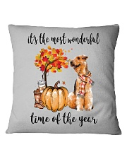 The Most Wonderful Time - Airedale Terrier Square Pillowcase thumbnail