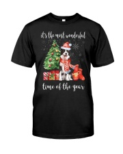 The Most Wonderful Xmas - Border Collie Classic T-Shirt front